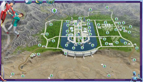 Interactieve kaart De Sims 3 Vooruit in de Tijd