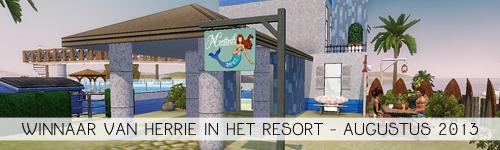 Uitdaging van de Zomer: Herrie in het resort Winnaar!