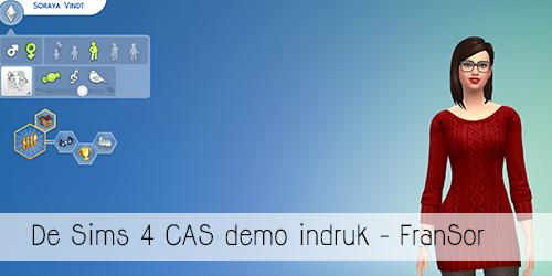 De Sims 4 Cas demo Impressie