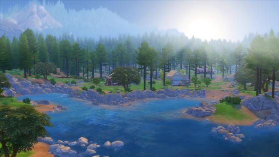 De Sims 4: De sims 4 In de Natuur Game Pack screen