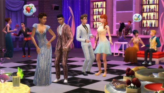 De Sims 4 Luxe Feestaccessoires: nieuwe screen