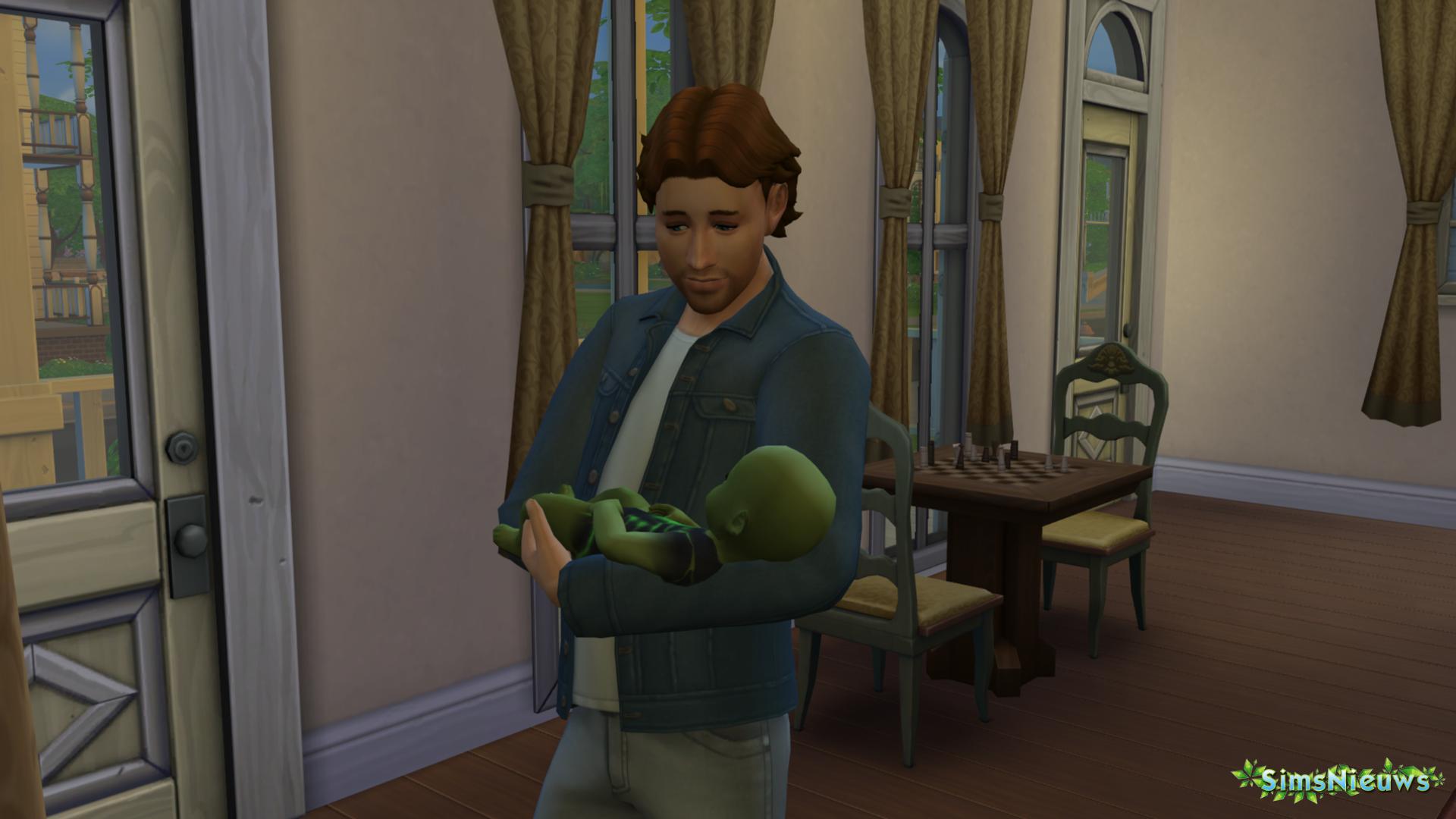 Een baby-alien