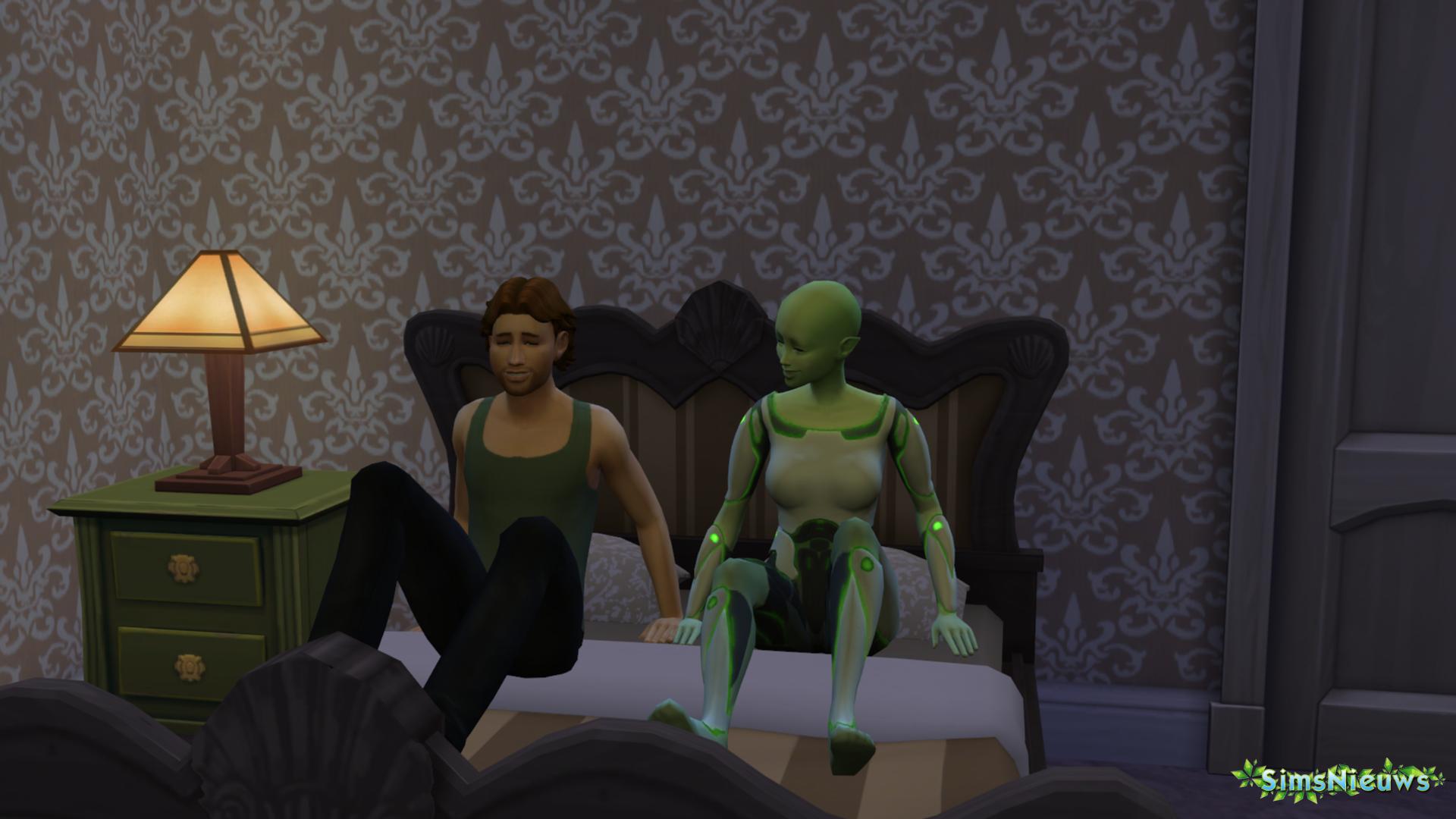 Aliens en Sims een kindje laten maken loopt bijna altijd anders af...