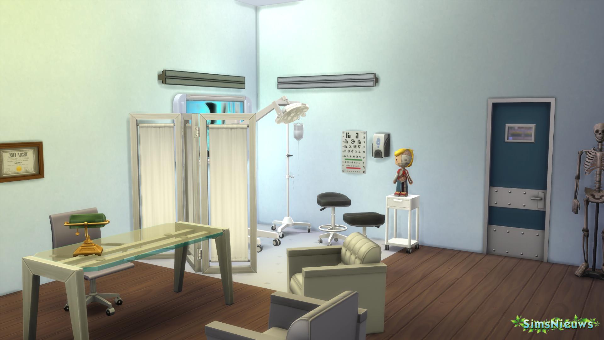De nieuwe ingerichte kamer met de vrij te spelen items