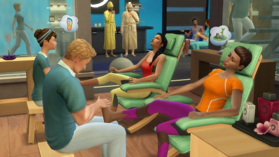 De Sims 4: Spa Day Screen!
