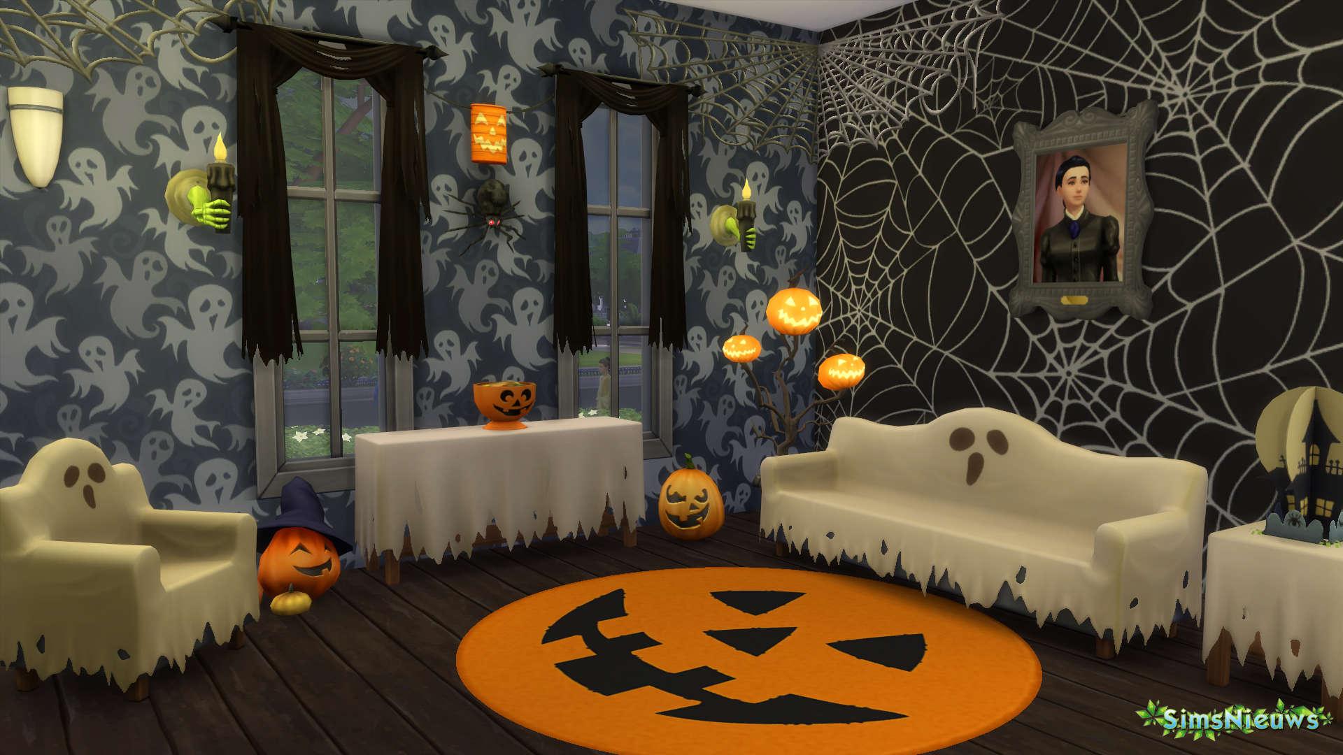 Sn review de sims 4 griezelige accessoires sims nieuws for Halloween versiering maken