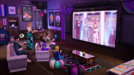 De Sims 4 Filmavond accessoires