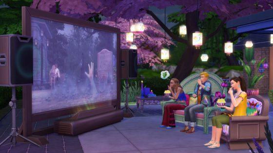 De Sims 4 Filmavond Accessoires komt volgende week naar de console