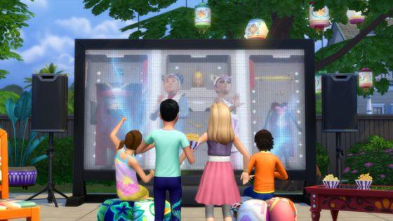 De Sims 4 Filmavond Accessoires vanaf nu verkrijgbaar op de console