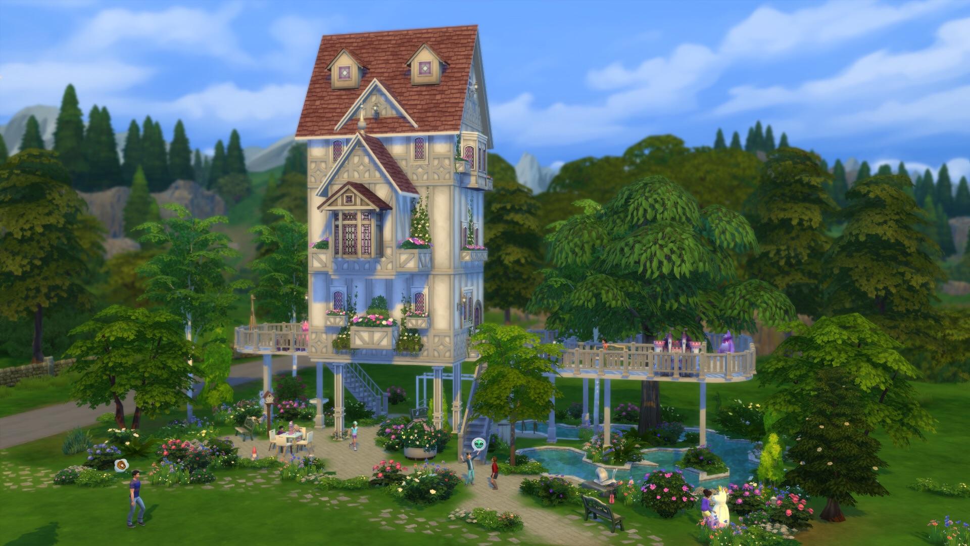 Community blog galeriespotlicht te gekke huizen voor for Case the sims 3 arredate
