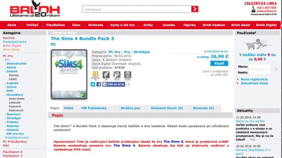 Mogelijk derde Bundel pack voor De Sims 4 in maart