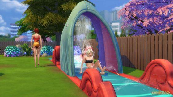 De Sims 4 Achtertuin Accessoires - Waterglijbaan