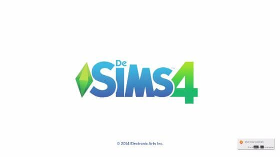 Sinds de update van gisteren kan het voorkomen dat De Sims 4 blijft hangen op dit scherm.