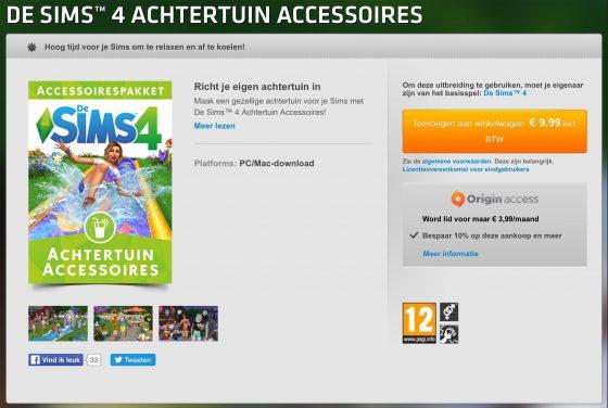 De Sims 4 Achtertuin Accessoires vanaf nu verkrijgbaar!