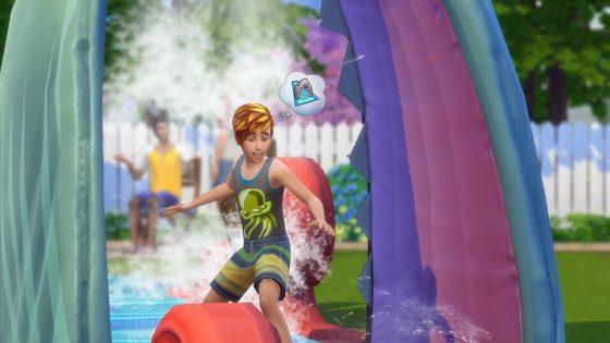 Community blog: Jippie! Moet je die waterglijbaan uit De Sims 4 Achtertuin Accessoires eens zien