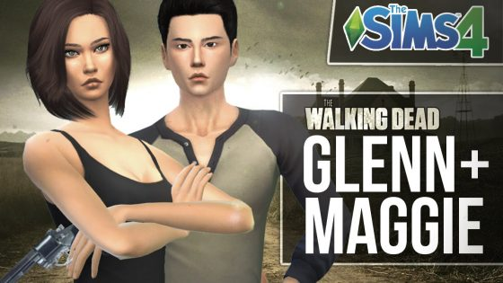 De Sims 4: Walking Dead Glenn en Maggie