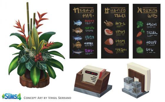 De Sims 4 Uit Eten concept art