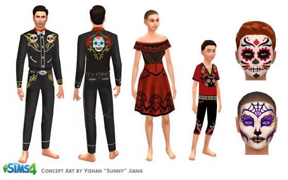 De Sims 4: Dag van de Doden concept art