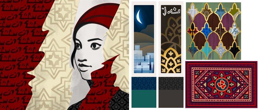De Sims 4 Stedelijk Leven: Concept art Marokkaanse schilderijen