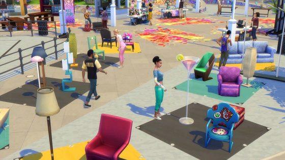 De Sims 4 Stedelijk Leven: Vlooienmarkt