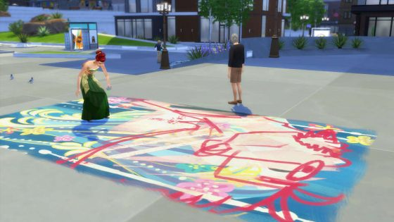 De Sims 4 Stedelijk Leven: Straatkunst