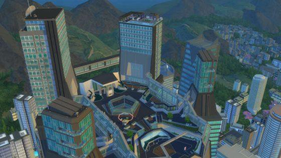 De Binnenstad is het high-end deel van de stad omringd door luxueuze gebouwen