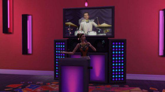 In de karaokebar kun je jouw Sim's zangvaardigheden publiekelijk testen