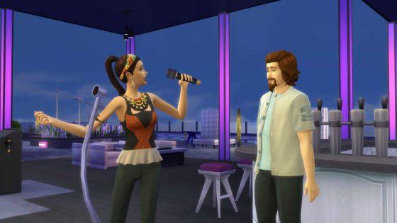 Het brengen van een serenade aan een andere Sim is een gemakkelijke manier om snel in de stemming te komen