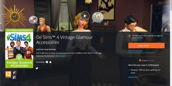 De Sims 4 Vintage Glamour Accessoires vanaf nu verkrijgbaar!