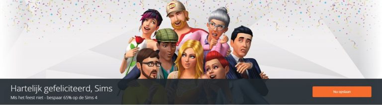 Origin: De Sims 4 verjaardags-sale