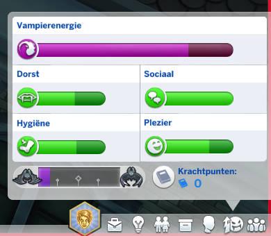Behoeftes van een vampierSim