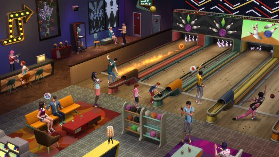 Het is tijd voor wat kegelpret met het De Sims 4 Bowlingavond Accessoirespakket!