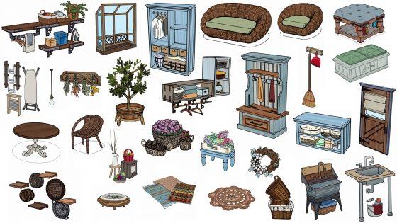 """Winnende voorwerpen uit De Sims 4 Wasgoed Accessoires"""" width="""