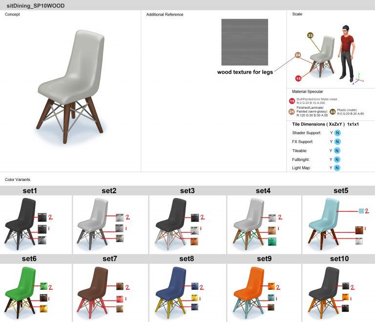 Een stoel uit De Sims 4 Bowlingavond Accessoires