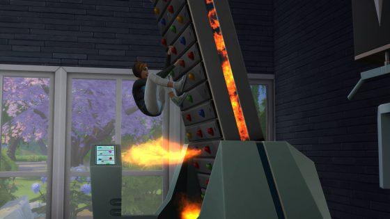 De Sims 4 Fitness Accessoires: Vuuruitdaging op de klimwand