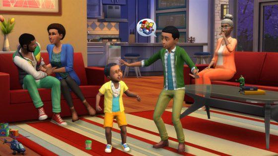 De Sims 4 op de Xbox One met onder andere ook peuters
