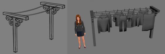 SimGuruGraham deelt concept art waslijn uit De Sims 4 Wasgoed Accessoires