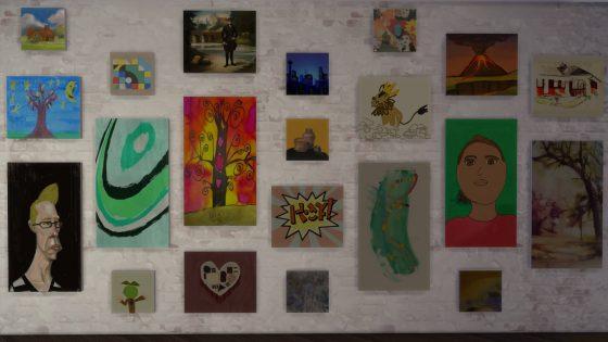 Verschillende gemaakte schilderijen