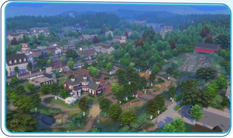 Achthoekige daken in de aankondiging van De Sims 4 Honden en Katten