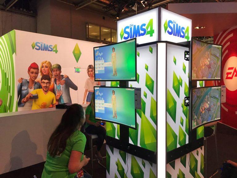 De Sims 4 Console op gamescom