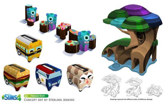 De Sims 4 Peuter Accessoires concept art