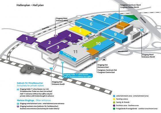 Kaart van gamescom 2017
