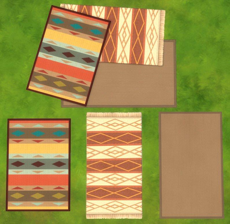 Losse en gestapelde vloerkleden in De Sims 4 Wasgoed Accessoires