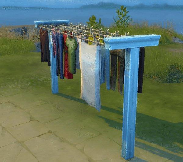 Waslijn uit De Sims 4 Wasgoed Accessoires