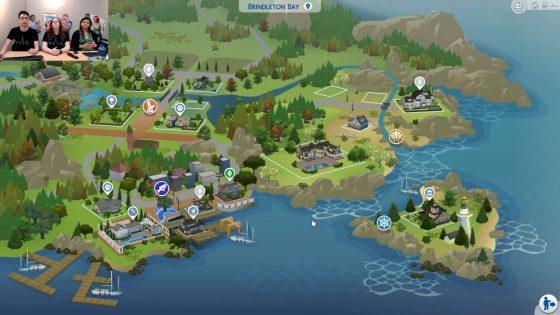 Wereldkaart van Brindleton Bay uit De Sims 4 Honden en Katten