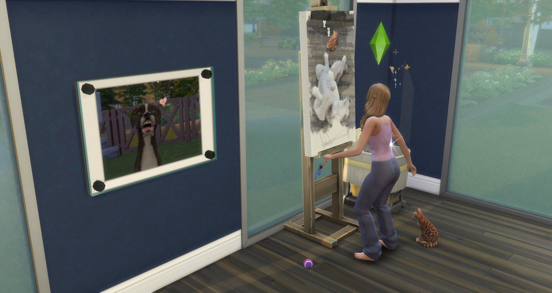 SimGuruRomeo herdenkt zijn huisdieren met een schilderij