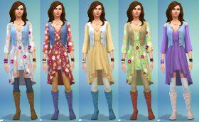 Een van de uitgelichte looks uit De Sims 4 Wasgoed Accessoires