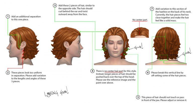 De Sims 4 Wasgoed Accessoires haarstijlen