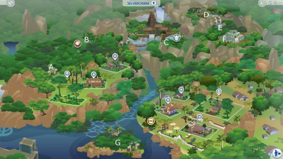 Kaart van de jungle