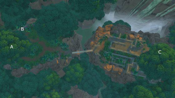 Kaart watervallen